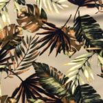 Brown Tropical Soft Warm Cotton Viscose
