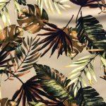 Brown Tropical Print