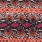 Cerise Snake Print