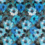 Silver Blue Floral
