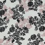 White, Black & Blush Floral