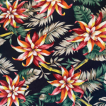 Bali Black Floral
