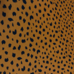 Burnt Orange Leopard Cotton Viscose