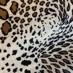 Spaced Leopard Silk Satin