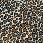 Large Brown Leopard Silk Satin