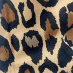 Brown Leopard Silk Satin